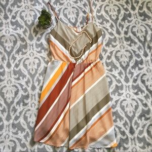 Women's LC Lauren Conrad stripe silky V-neck dress